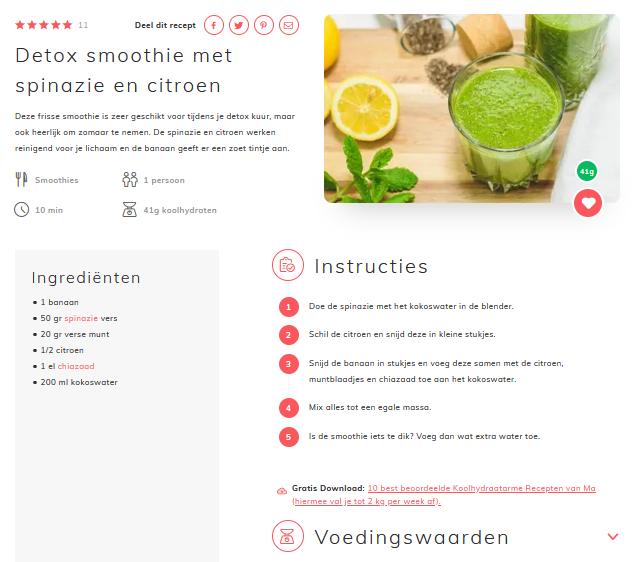 niels bosman makkelijkafvallen.nl recept